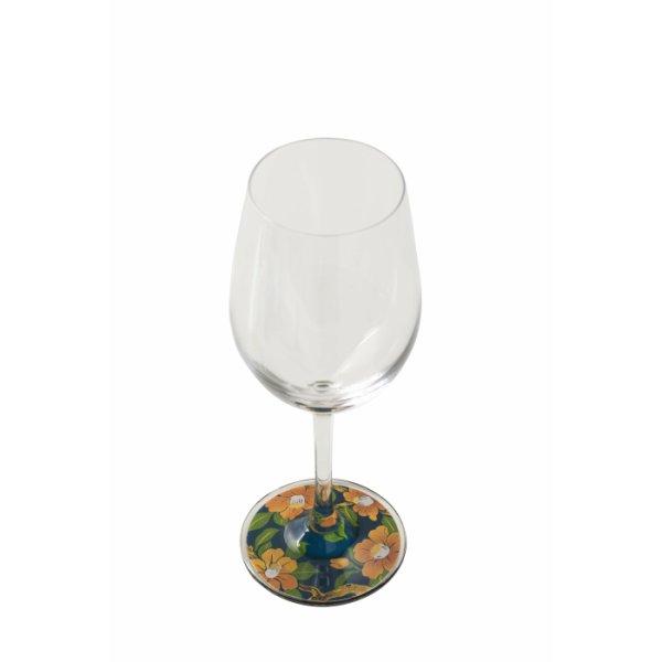 画像1: 【ミュゼグラス】 漆芸蒔絵ワイングラス 寒椿 (1)