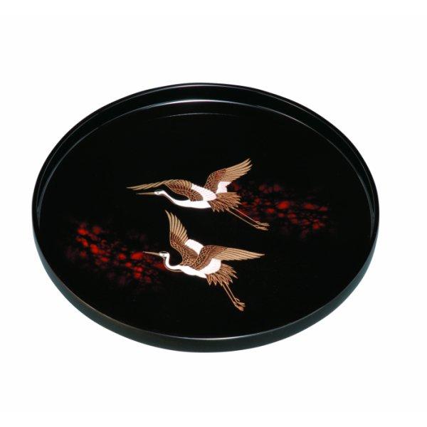 画像1: 9.0 丸盆 別甲 二羽鶴 (1)