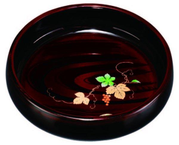 画像1: 菓子鉢 木目 ツタ (1)