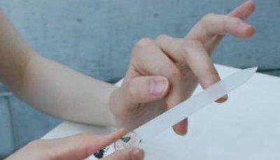 画像1: ブラジェク製 高級 ガラス爪やすり 日本の花 10月 菊