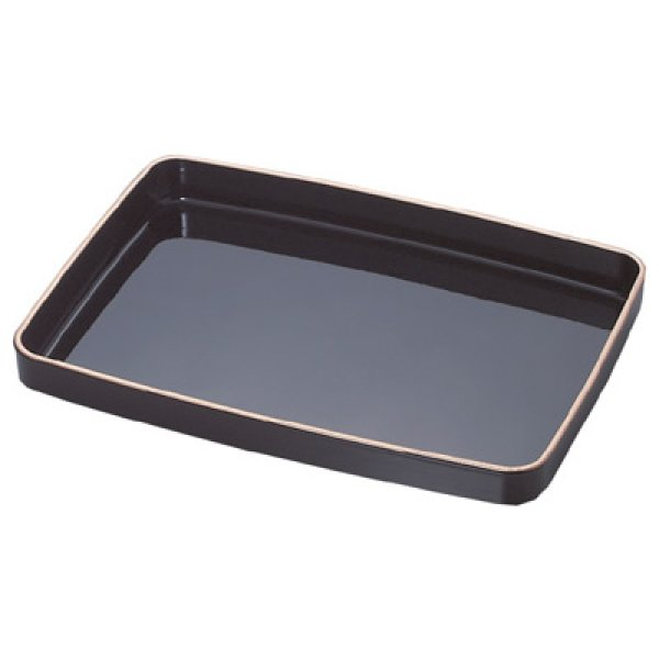 画像1: 賞状盆 PC(樹脂)油性合成塗料(金縁付) (1)