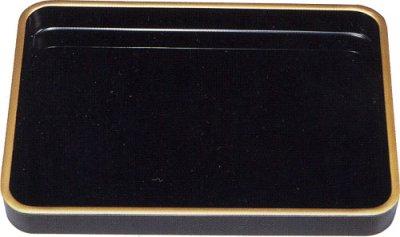 画像1: 賞状盆 木製 (カシューうるし塗)(金縁付)