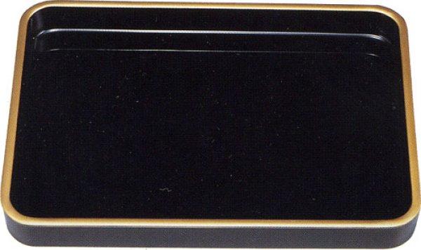 画像1: 尺8(55cm)賞状盆 木製・うるし塗り(金縁付)  (1)